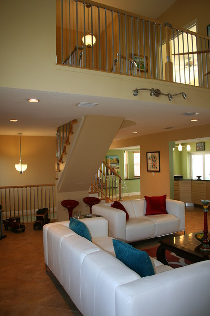 Eclectic Fusion Style Stair Project. Kennedy Residence. Merritt Island. Fl traditional-living-room