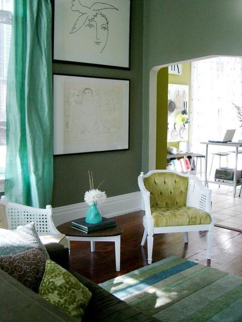 eclectic green livingroom eclectic-living-room