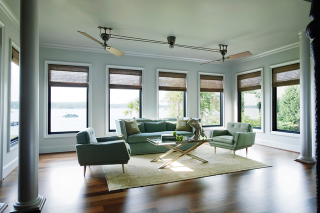 Example Of A Minimalist Medium Tone Wood Floor And Brown Floor Living Room  Design In Other Part 42
