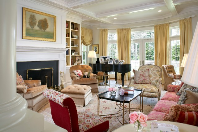 Eclectic living room traditional living room boston for Traditional eclectic living rooms