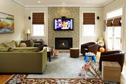 How do you hide the wires for a TV above fireplace?