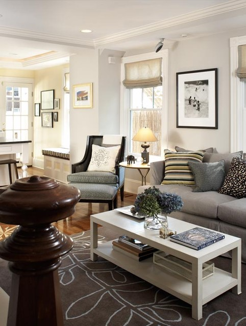 Cambridge Cottage Eclectic Living Room Boston By