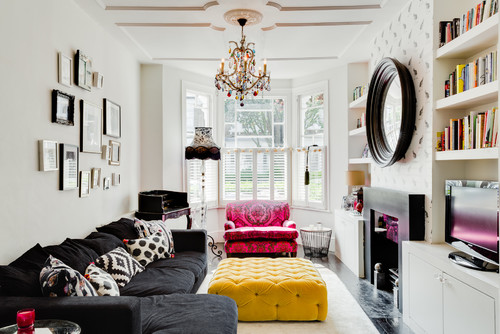 colourful living room interior
