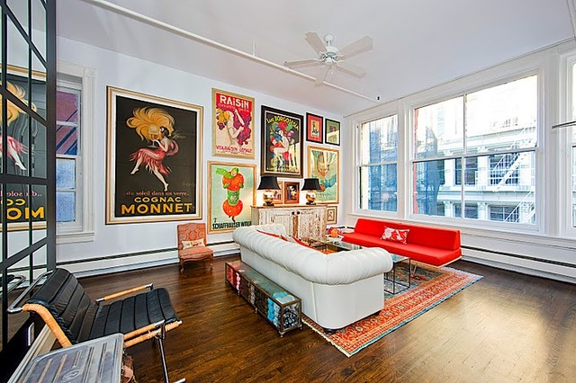 Soho Loft eclectic living room