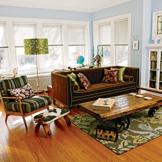 Vintage Chicago 2-Story eclectic-living-room