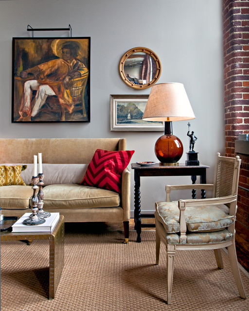 Houzz Living Room Wall Decor: Eclectic Living Room