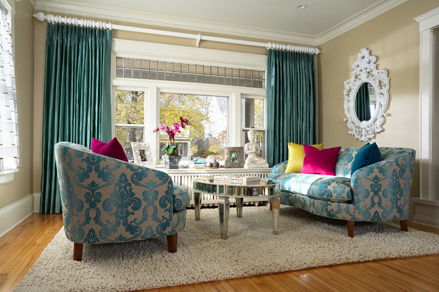 Cozy glam living room eclectic living room for Eclectic living room ideas