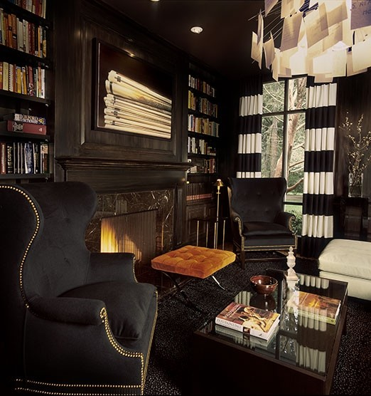 Private Library eclectic living room