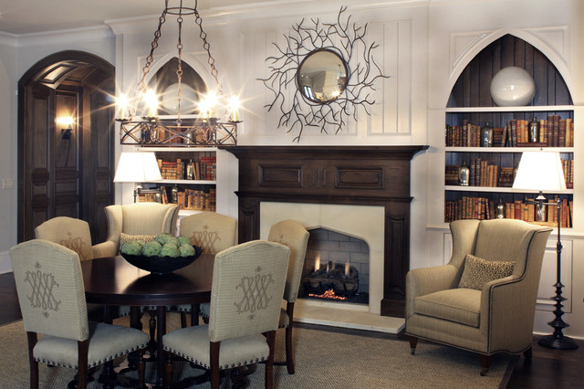 Eclectic living room for Gothic living room ideas