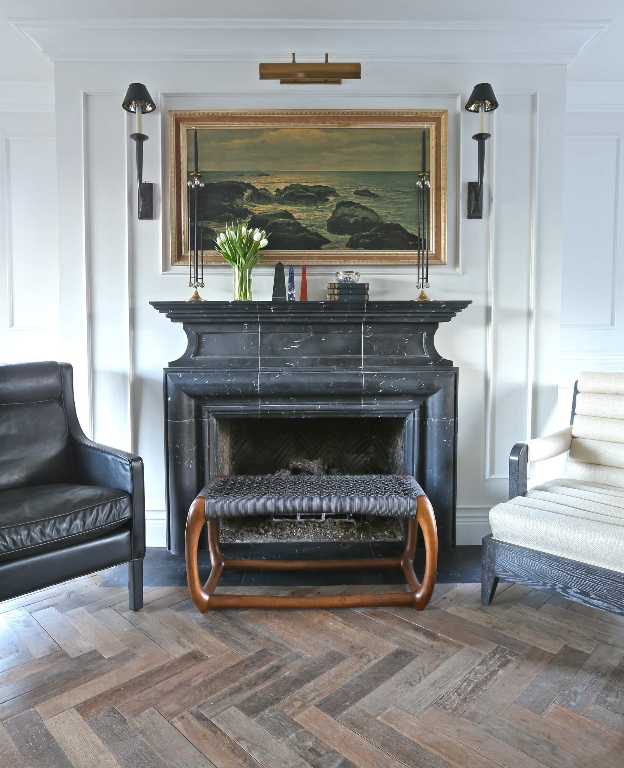 Black Marble Fireplace Houzz