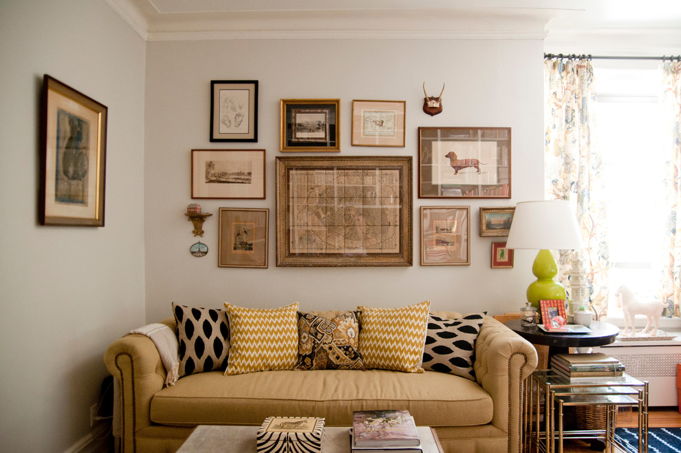 Inspiration for an eclectic enclosed living room remodel in New York