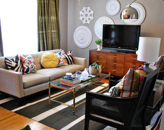 Eclectic Living Room with Pops of Color eclectic living room