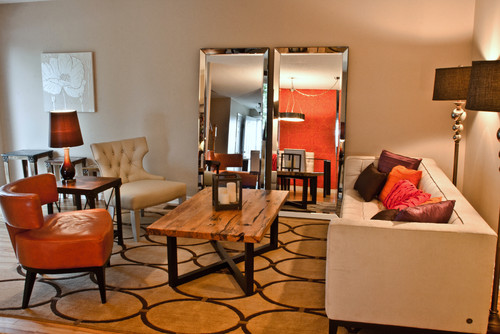 Living Rooms Are Great Es For Incorporating Large Mirrors In The Design Two Beveled Of Same Size And Brings Elegance A Feel