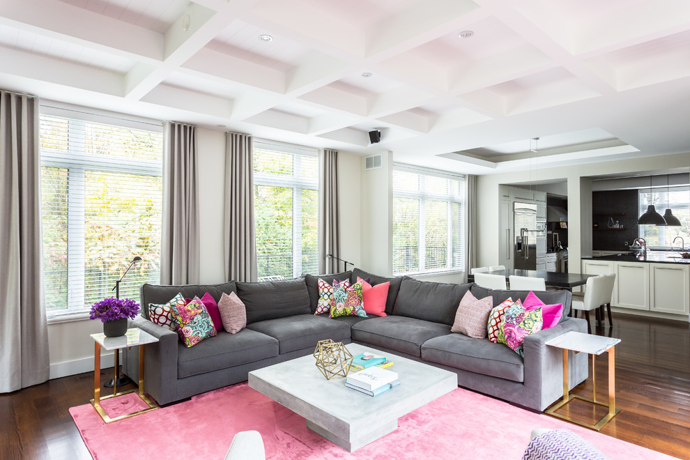 eclectic style  contemporary  living room  montreal