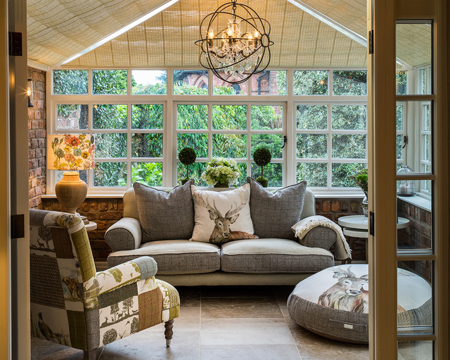 Eclectic traditional cheshire home transitional living for Traditional eclectic living rooms