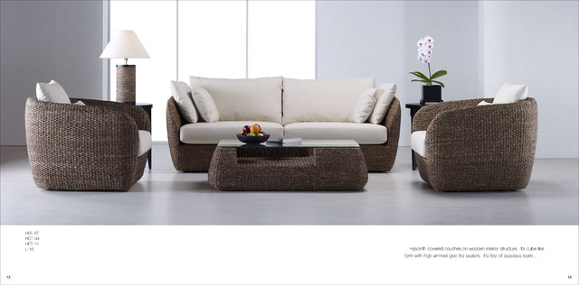 Eco Modern beach-style-living-room
