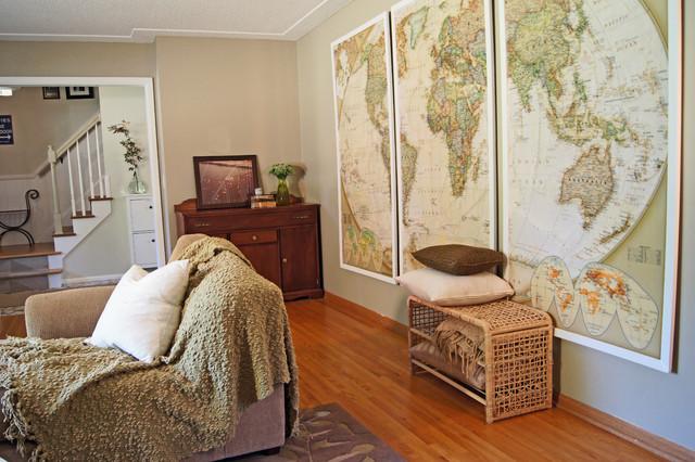 Eden Prairie Home Transitional Living Room