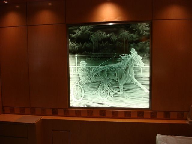 Edge Lit Art Glass Golf Theme Ii
