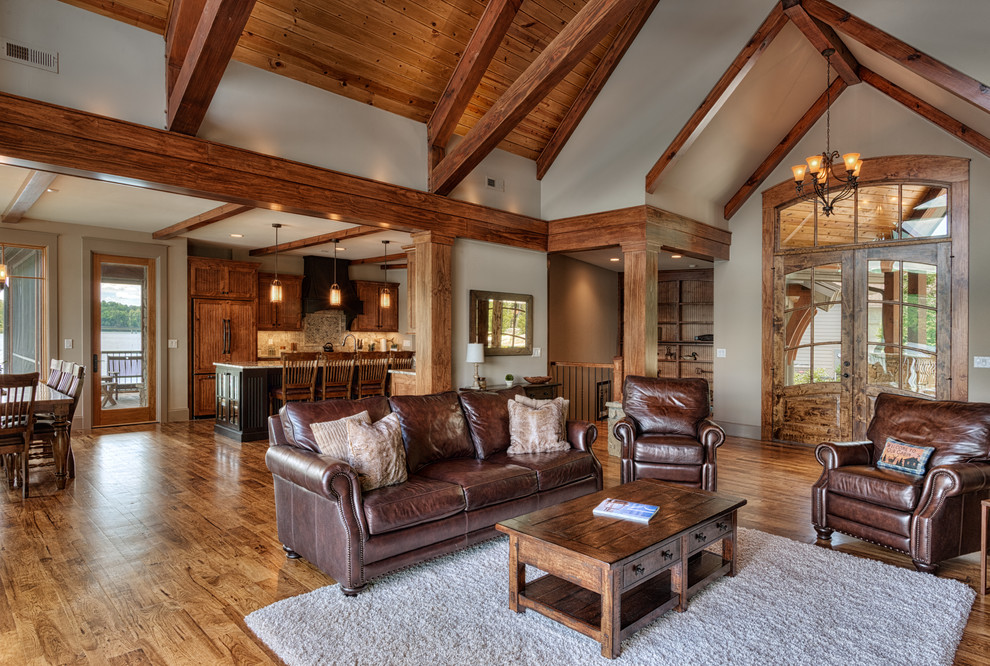 Living room - craftsman living room idea in Other