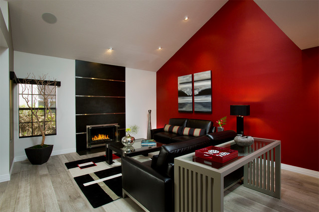 Edgy Bachelor Pad Contemporary Living Room Orange County By Beth Whit