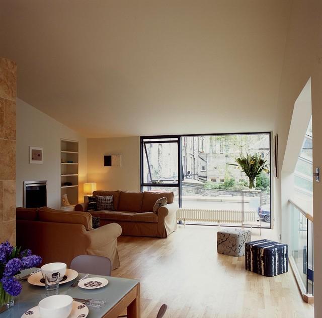 edinburgh new town house contemporary living room