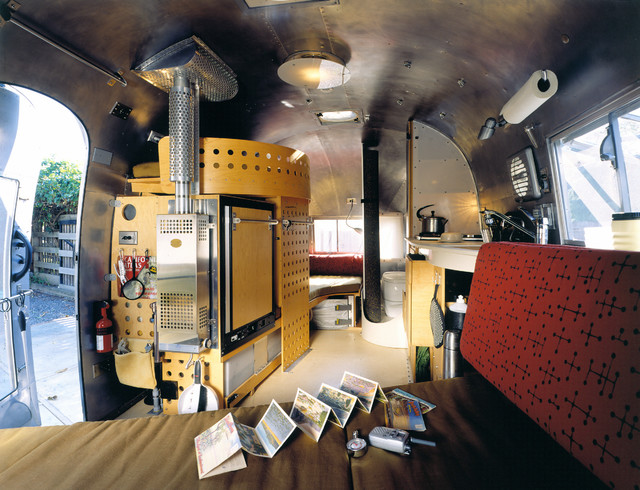 Edison Airstream Redesign Eclectic Living Room San