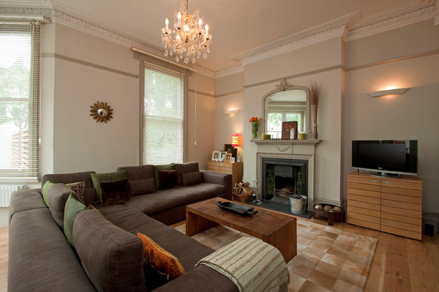 Edwardian refurbishment hove traditional living room for Edwardian lounge interior designs
