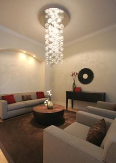 Effervescent contemporary living room