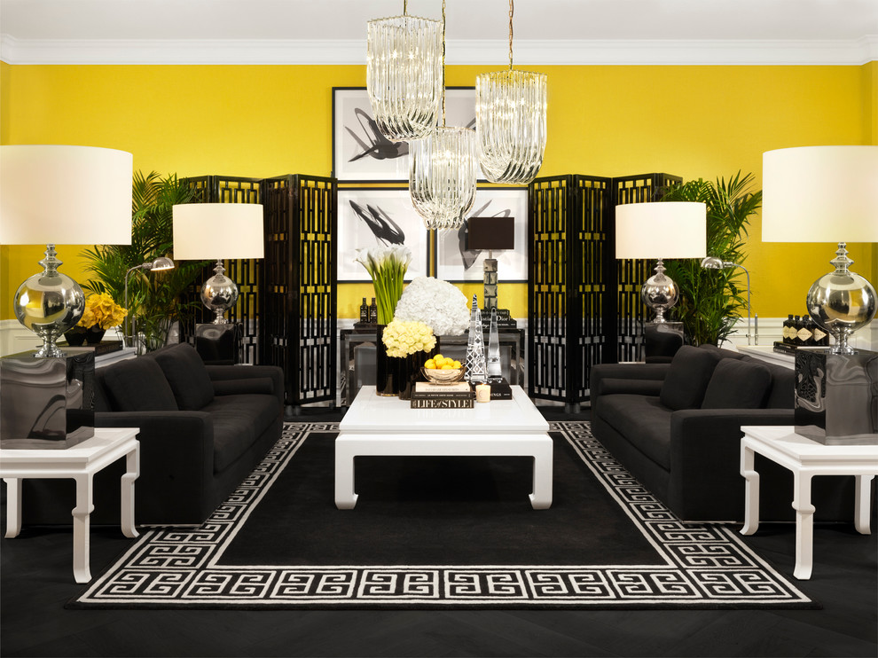 Eichholtz Black White And Yellow Living Room Modern Living Room London By Sweetpea Willow