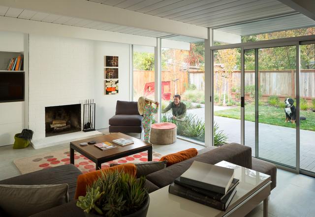 Eichler In Marinwood Midcentury Living Room San