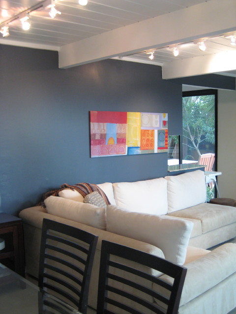 Eichler Living Room Slate Blue