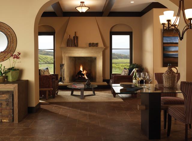 El Dorado Fireplace Surrounds mediterranean-living-room