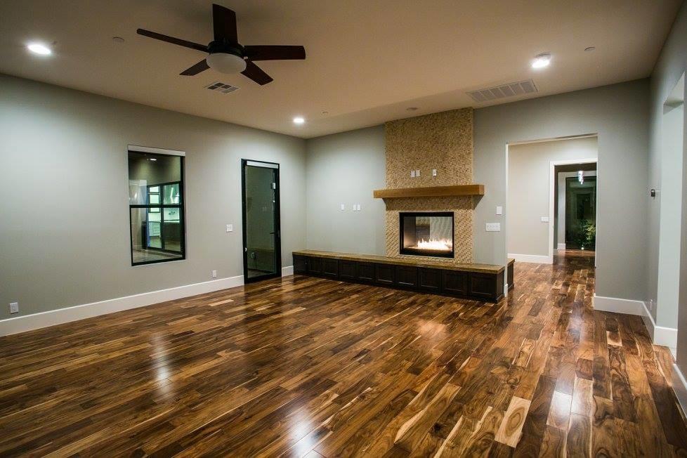 Example of a trendy living room design in Las Vegas