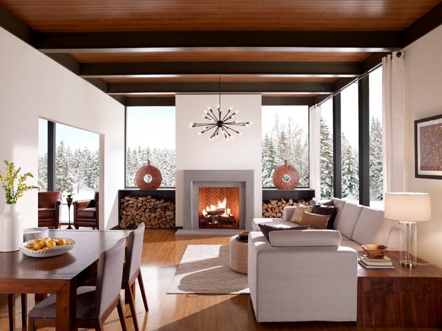 Eldorado Stone transitional-living-room