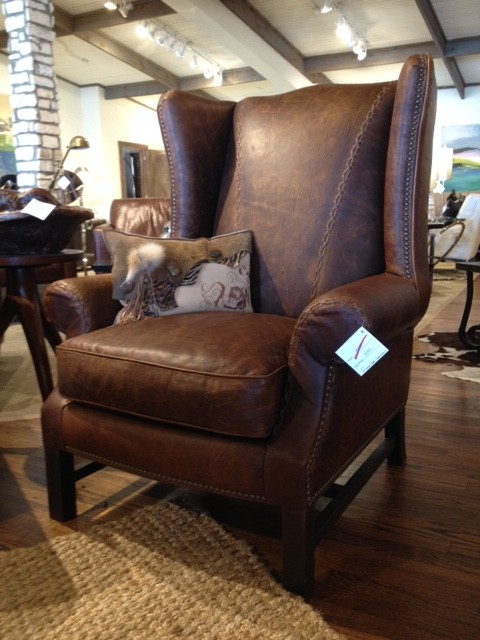 Eleanor Rigby Wingback Accent Chair Rustic Living Room