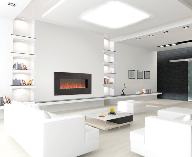 electric fireplaces - contemporary - living room - denver -