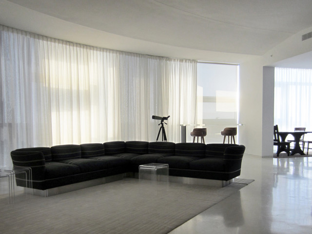 Electronic Sheer Curtains Modern Living Room Other Metro By Shades By
