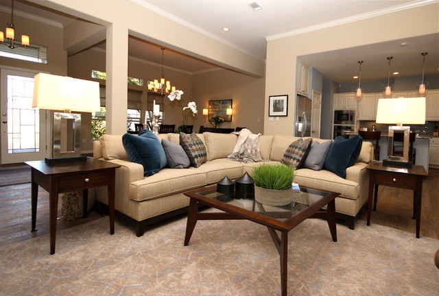 Elegant Casual Contemporary Home Transitional Living  : transitional living room from www.houzz.co.uk size 640 x 432 jpeg 82kB