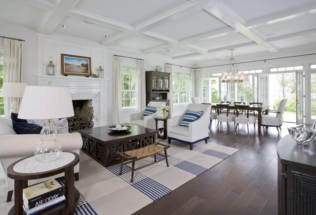Elegant coastal home for Elegant coastal living rooms