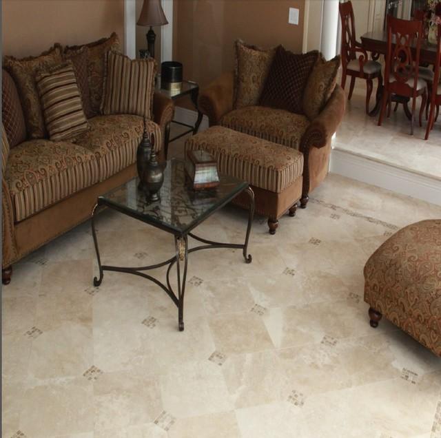 17 Fancy Floor Tiles For Living Room Ideas: Elegant Durango Travertine Tile