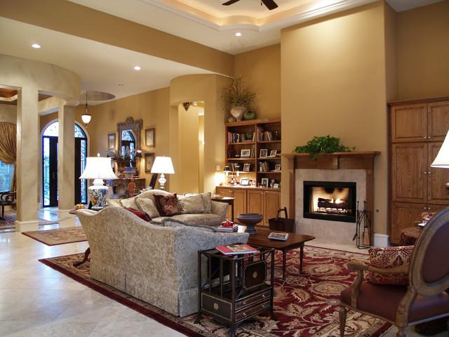 Elegant empty nester traditional living room austin for Elegant traditional living rooms