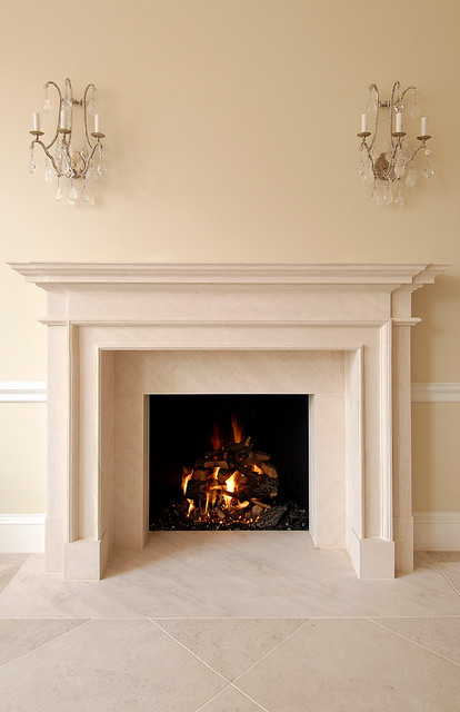 Elegant Fireplace Traditional Living Room Boston