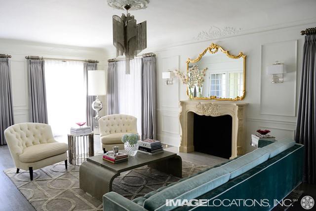 elegant hollywood regency contemporary living room los angeles