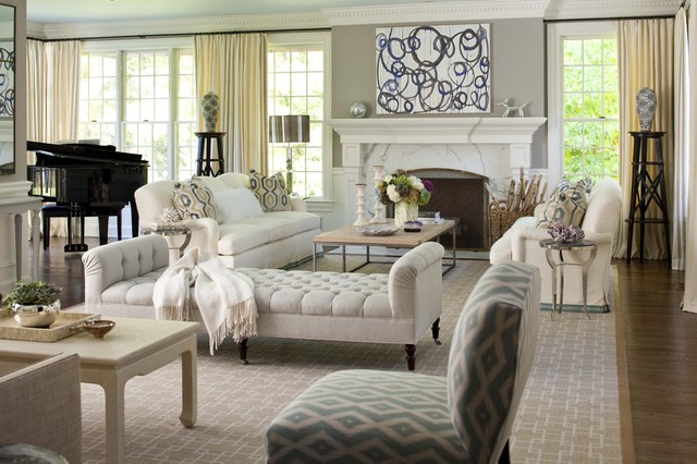 Elegant living room transitional living room