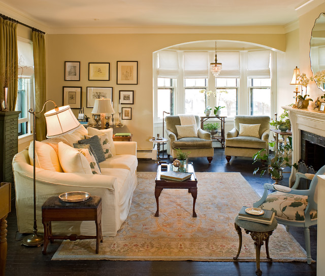 Elegant Living Room Traditional Living Room By Kirsten Floyd Interior D