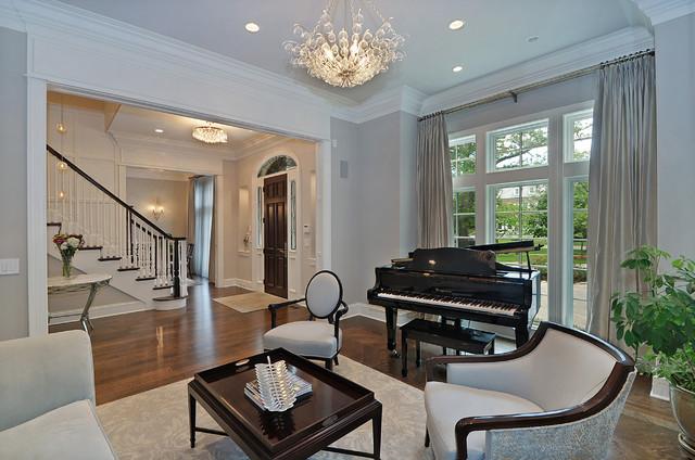 Elegant Living Room Transitional Living Room