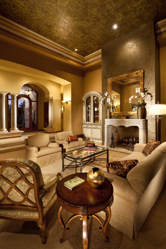 Elegant Living Room- Paradise Valley home - Traditional ...