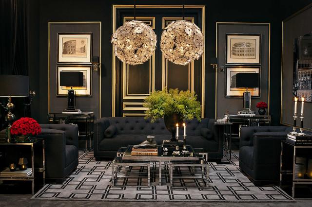Elegant Living Room The Best Of Houzz Ideas Contemporary Vardagsrum