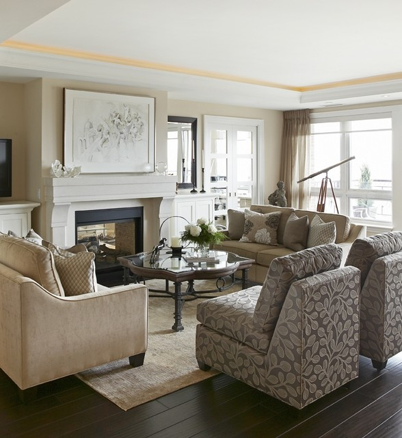 Elegant Living Space Living Room Toronto By