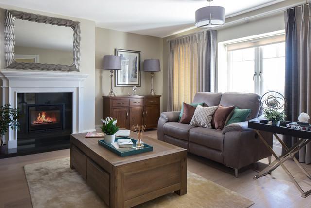 Elegant modern home transitional-living-room